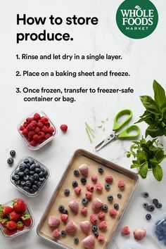 Get pro tips for storing fruits and vegetables (tomatoes, av. Allergy Free Recipes, Healthy Diet Recipes, Whole Food Recipes, Keto Recipes, Healthy Snacks, Snack Recipes, Cake Recipes, Dessert Recipes, Desserts