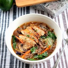 A copycat recipe for Panera's Soba Noodle Broth Bowls with Chicken