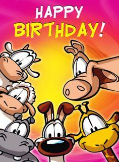 Felicitatiekaart met schaap, konijn en giraffe- Greetz