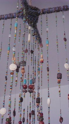 Glass Beaded Mobile by SillyHobbies on Etsy, $80.00