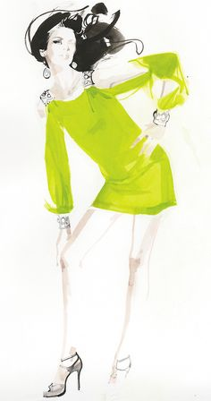 Fancy that - a dress with built-in baubles!   Dress, Aidan Mattox.