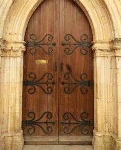 Rocamadour Cathedral doors
