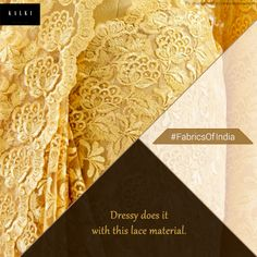Let lace's sheer playfulness wrap you. Click here for lace and bordered sarees: http://bit.ly/1r5er20