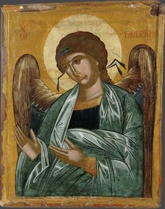 Orthodox icons and incense. Handmade museum quality icons and more. Archangel Gabriel, London Museums, Orthodox Icons, Religious Art, 16th Century, Holy Spirit, My Images, Art Museum, Artwork
