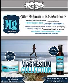 July 2014 specials! I love my magnesium lotion. It helps with my muscle cramps, headaches, monthly cramps, and I use it on the bottom of my feet for my magnesium vitamins. Shop online at www.myjestore.com/Robinlin.