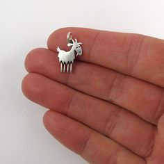 Goat pendant by StickManJewelry on Etsy, $22.00