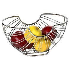 Found it at Wayfair - Ellipse Fruit Bowl in Chrome If we actually SAW our fresh fruit, we'd remember we had it and would eat it before it spoiled!