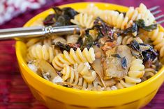 Fusilli with Artichokes and Swiss Chard