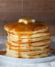 buttermilk pancakes - these are amazing! so fluffy and delicious, just the way pancakes should be.
