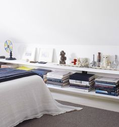 IKEA Lack shelf is a cool basic shelf, and you can use it wherever and however you want. IKEA Lack shelves can become nice corner shelves, floating . Couches For Small Spaces, Bookshelves In Bedroom, Room Setup, Ikea Lack Shelves, Home Decor, Lack Shelf, Room, Room Decor, Slanted Walls