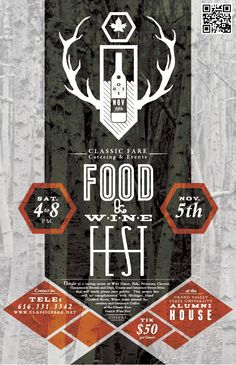 CF Catering - Event Promotion Design by Joshua Kulchar, via Behance, Simple, Logo, Typography