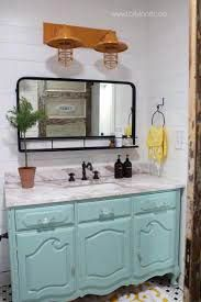 Loving this pharmacy mirror in this farmhouse bathroom decor. Such a pretty pharmacy mirror in our recent bathroom remodel! Master Bathroom Vanity, Small Bathroom Vanities, Bathroom Vanity Lighting, Bathroom Styling, Bathroom Interior Design, Modern Bathroom, Bathroom Ideas, Washroom, Blue Bathrooms