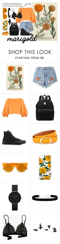 """""""Marigold Marvells: Live for Emboidary"""" by birds-in-flight ❤ liked on Polyvore featuring House of Holland, TIBI, Converse, Fendi, Sonix, Newgate, 2028, Madewell, Jayson Home and marigold"""
