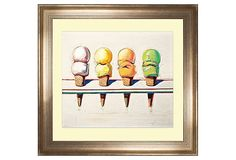 One Kings Lane - The Modern Home - Wayne Thiebaud, Ice Cream, 1964
