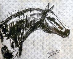 "Saatchi Online Artist CHAKIB BENKARA; Drawing, ""TRIUMPH OVER ADVERSITY II"" #art Horse Sketch, Deer Art, Saatchi Online, Horse Art, Photo Art, Saatchi Art, Cool Art, Art Projects, Art Drawings"