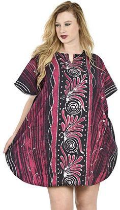Lounge Kaftan Batik Top Coverup Beach Dress Women Plus 100 Cotton Swim Pink *** More info could be found at the image url.