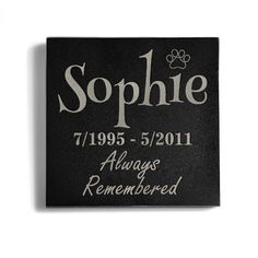 Personalized Memorial Pet Headstone Customized - Always Remembered - 6 x 6 Marble -- Continue to the product at the image link. (This is an affiliate link and I receive a commission for the sales) Pet Headstones, Cat Memorial, Always Remember, Granite, Memories, Pets, Learning, Image Link, Awesome