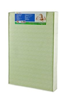 Dream On Me 55? Two-Sided, Portable Crib Foam Mattress, Green Two sided, portable crib foam mattress. Standard 16 CFR 1633. Hypo allergenic, antibacterial, cover aids in the prevention of mold, mildew; Constructed of quality materials and workmanship in the USA.  #DreamOnMe #BabyProduct