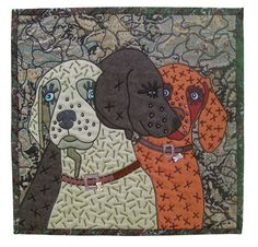 """Wuppies"" by Pauline Salzman, Treasure Island, Florida.  Alliance for American Quilts."