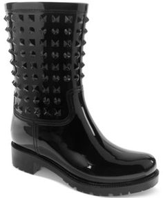 Dirty Laundry Rock It Rain Boots rubber black 9.5sh 1.5h sz7 59.00