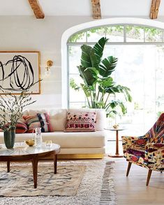 For living / laidback neutrals and global motifs for sun-warmed, spring-is-here seating. #anthrohome (link in profile to shop our new home collection)