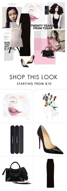"""""""Intermix skirt"""" by polyvore393 ❤ liked on Polyvore featuring Angelo, Dot & Bo, MAC Cosmetics, Christian Louboutin, Balenciaga, Enza Costa and Theory"""