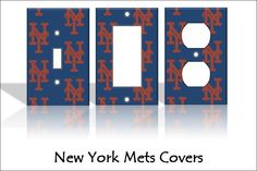 New York Mets - MLB - Light Switch Covers Baseball Sports Man Cave Decor Dorm Kids Home Decor Outlets Switchplate Bedroom Nursery by TheOlSwitcheroo on Etsy https://www.etsy.com/listing/238892769/new-york-mets-mlb-light-switch-covers