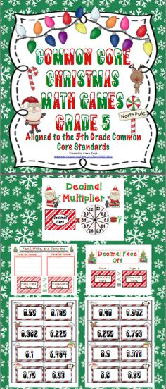1000 images about holiday math on pinterest decimal