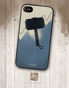 Iphone 4 / 4s hard or rubber case  THOR The Avengers by FeerieDoll