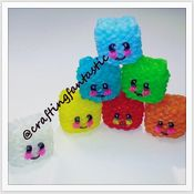 Rainbow Loom Happy Food Series - Ice Cube/Jello - FeelinSpiffy - CraftingFantastic The tutorials are on her Youtube page:)