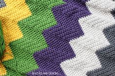 Colorful Chevron Blanket Pattern :: Rescued Paw Designs