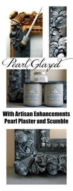 How to Pearl Glaze using Artisan Enhancements Pearl Plaster and Scumble Glaze! Link to full tutorial!