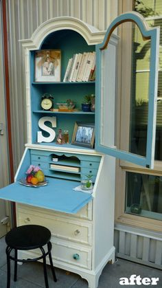 Secretary in Dutch Boy Tiramisu and Election Blues #DIY #Reuse #Furniture