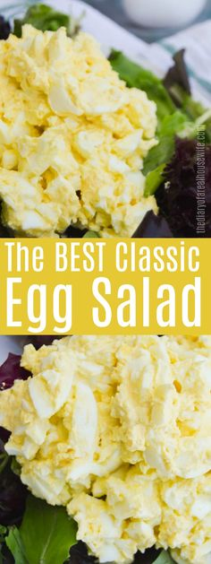 The best classic egg salad recipe! You will love this, and it is super easy to make! The best classic egg salad recipe! You will love this, and it is super easy to make! Keto Egg Salad, Easy Egg Salad, Potato Salad With Egg, Easy Salad Recipes, Healthy Recipes, Egg Salad Sandwhich Recipe, Healthy Egg Salad, Simple Egg Recipes, Breakfast Recipes With Eggs