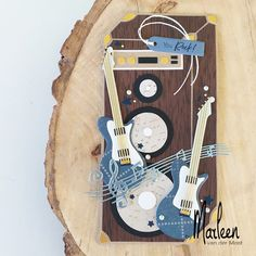 Marianne Design - Creatables - Guitar by Marleen Casette Tapes, Music Speakers, Marianne Design, Diy Garden Decor, Masculine Cards, Art Journals, Color Themes, Beautiful Gardens, Banners