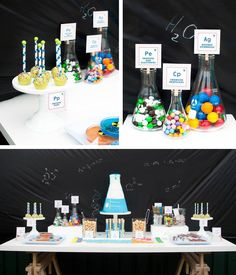 Science Themed Birthday Party with Lots of Realy Awesome Ideas via Kara's Party Ideas