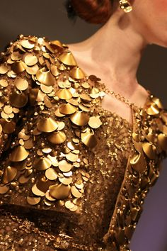 Gold and glittery