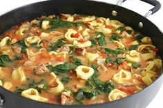 (NEW RECIPE) This is a really good Italian, main course soup. It comes together very quickly so you can enjoy it any night of the week. Veryhearty and healthy, each huge 2 cup serving has 245 calo…