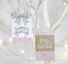 25 Days of Christmas Tags .. Day 4 Simon Says Stamp