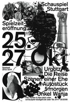 Katharina Köhler (Germany) Schauspiel Stuttgart, submissions for the 2014 International Poster Competition, Graphic Design Festival Scotland. Typo Poster, Typographic Poster, Typography, Kaktus Illustration, Digital Illustration, Poster Competition, Plakat Design, Graphic Design Posters, Poster Designs
