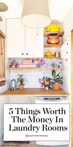 There are a few things worth spending money on in the laundry room that will make doing your chores a lot easier. Here are five expert-approved upgrades for your laundry room. #laundryrooms #laundryhacks #laundryroomideas #closet #storageideas #storagetips Room, Decorating Small Spaces, Starter Home, Decorating On A Budget, Laundry Room Decor, Home Decor, Room Inspiration, Laundry, Closet Clothes Storage