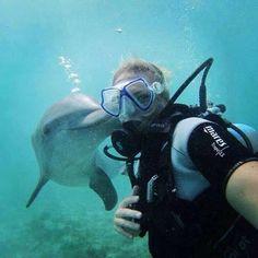 Selfie bajo el mar