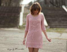 Comprar vestido de verão com uma rosa, vestido de praia, vestido de algodão - vestido de verão com uma rosa
