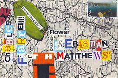 3 by the Fire: January 2012 ~   Mail Art Sample (collage art on postcards exchange since  1965)