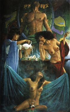 Art Fantastix - The Art of Walter Girotto работ) Italian Painters, Make Art, Erotic Art, Art History, Painting & Drawing, Fantasy Art, Pin Up, Art Gallery, Creatures