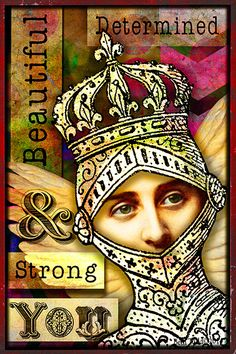 'Beautiful, Determined, Strong You' ©Beth Todd 2014 An affirmation card made with Tumble Fish Studio's  'Posers' http://www.deviantscrap.com/shop/product.php?productid=22081cat=page=