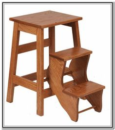 Elegant Small White Step Stool