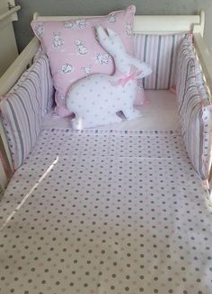 For a simple Spot and Dots with a touch of bunny, our Bunny Hop is perfect for your little girls Pink and Grey nursery!