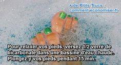 Rester debout trop longtemps, courir, être fatigué, mettre des talons, nous avons tous une bonne raison d'avoir mal aux pieds.  Découvrez l'astuce ici : http://www.comment-economiser.fr/bicarbonate-de-soude-pour-relaxer-les-pieds.html?utm_content=buffera61c4&utm_medium=social&utm_source=pinterest.com&utm_campaign=buffer