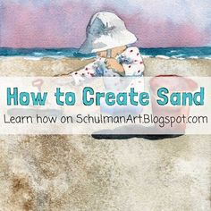 How to Paint Sand With Watercolor watercolor techniques Beach Watercolor, Watercolor Tips, Watercolour Tutorials, Watercolor Artists, Watercolor Landscape, Watercolor Flowers, Watercolor Paintings, Watercolours, Painting Tutorials